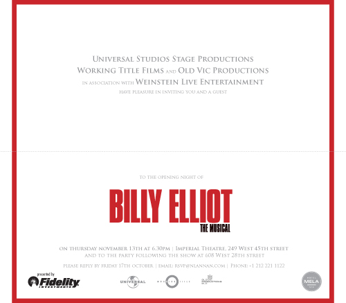 billy elliot study notes But billy elliot the musical has failed to make such a positive impact on the other  side of the atlantic the new yorker magazine has launched a.